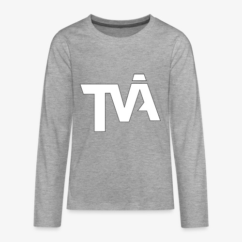 TVÅHUNDRA VIT - Långärmad premium T-shirt tonåring