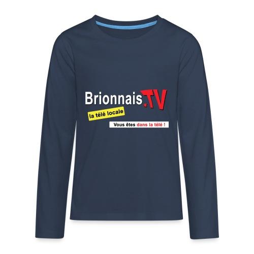 BTV logo shirt dos - T-shirt manches longues Premium Ado
