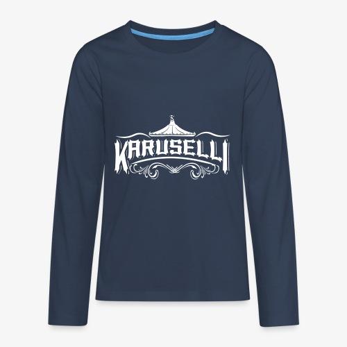 Karuselli - Teinien premium pitkähihainen t-paita