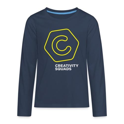 CreativitySquads 002 - Teinien premium pitkähihainen t-paita