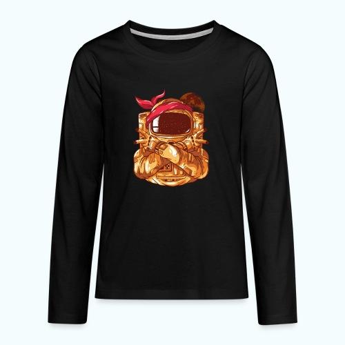 Rebel astronaut - Teenagers' Premium Longsleeve Shirt