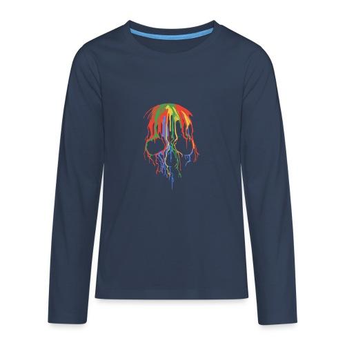 Skull and Colours - Camiseta de manga larga premium adolescente