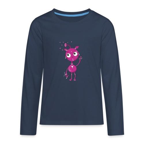 Kleines außerirdisches Mädchen - Teenager Premium Langarmshirt