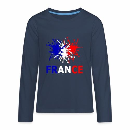 France - red white blue - Teenagers' Premium Longsleeve Shirt