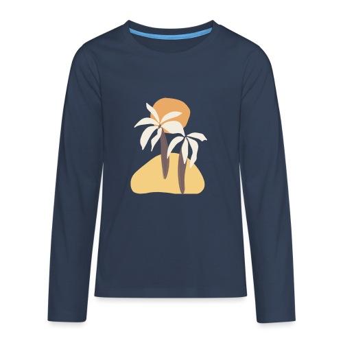 Minimal tropics - Maglietta Premium a manica lunga per teenager
