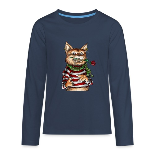 T-shirt - Crazy Cat - T-shirt manches longues Premium Ado