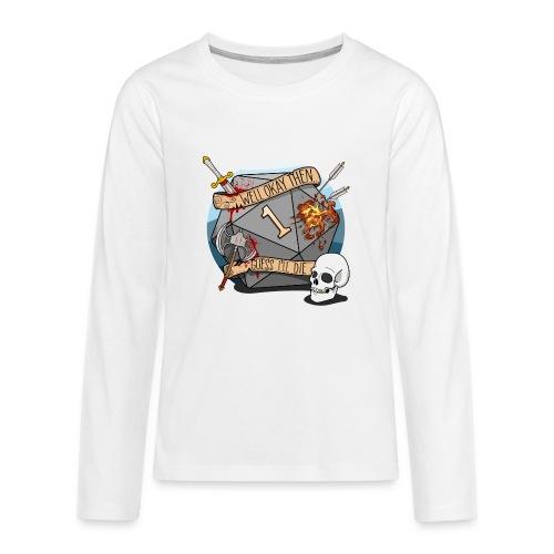 Arvelen kuolen - DND D & D Dungeons and Dragons - Teinien premium pitkähihainen t-paita