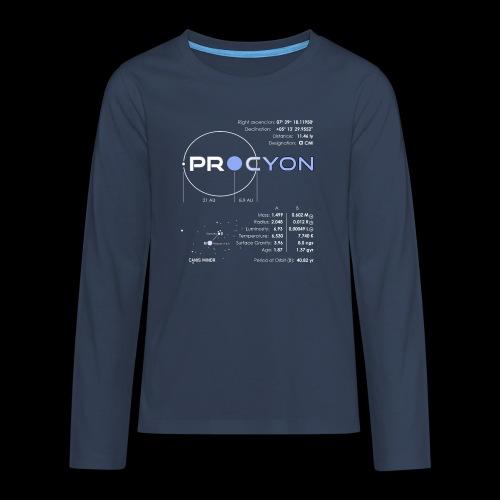 Procyon - Teenager Premium Langarmshirt