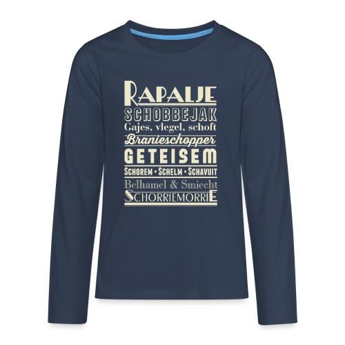Rapalje - Teenager Premium shirt met lange mouwen