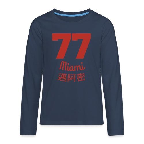 77 miami - Teenager Premium Langarmshirt