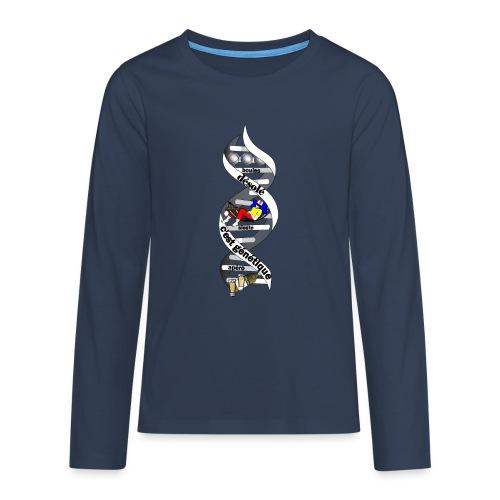 ADN PETANQUE poster t shirt désolé c'est génétique - T-shirt manches longues Premium Ado