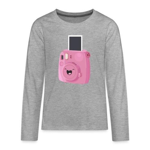 Appareil photo instantané rose - T-shirt manches longues Premium Ado
