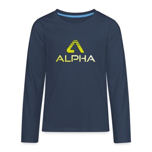 alpha trans png - Teenager Premium Langarmshirt