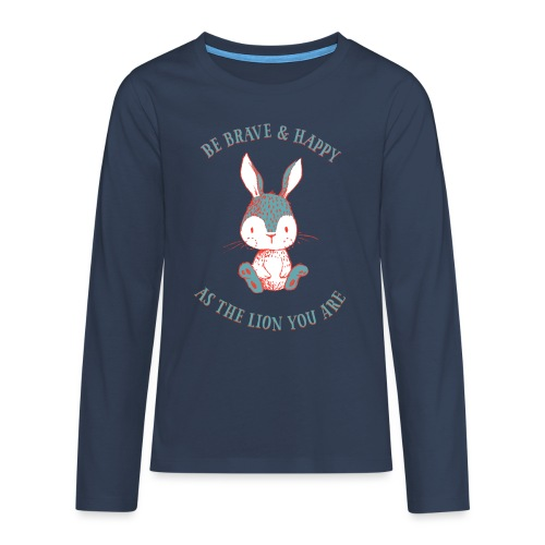 Brave rabbit - Teenagers' Premium Longsleeve Shirt