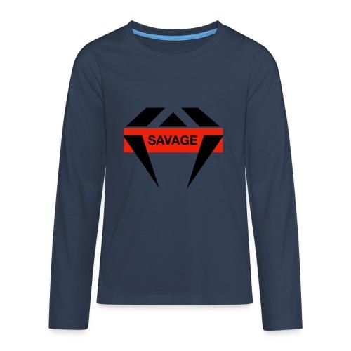 J.O.B Diamant Savage - Teenager Premium Langarmshirt
