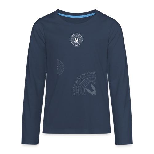 follow the circle white - Teenagers' Premium Longsleeve Shirt