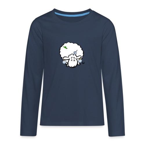 Joulukuusi lammas - Teinien premium pitkähihainen t-paita