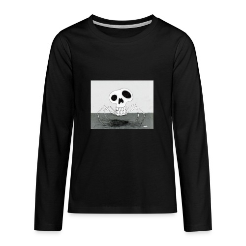 skull spider - Långärmad premium T-shirt tonåring