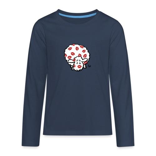 Beso oveja - Camiseta de manga larga premium adolescente