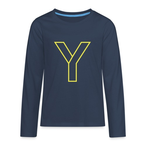 ChangeMy.Company Y Yellow - Teenager Premium Langarmshirt