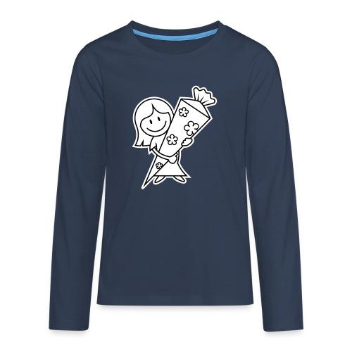 vl028b_schulanfang_2c - Teenager Premium Langarmshirt