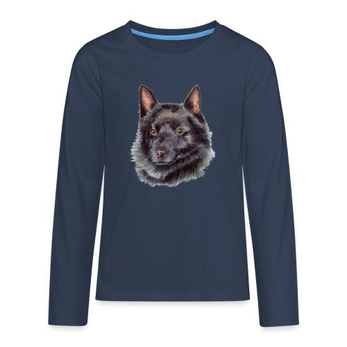 schipperke - M - Teenager premium T-shirt med lange ærmer