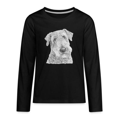 airedale terrier - Teenager premium T-shirt med lange ærmer