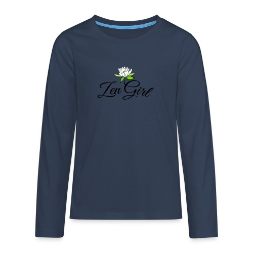 zengirl with lotusflower for purity in life - Långärmad premium T-shirt tonåring