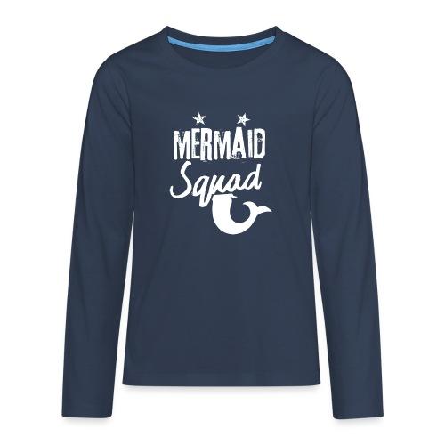 Meerjungfrau-Trupp-Kader - Teenager Premium Langarmshirt