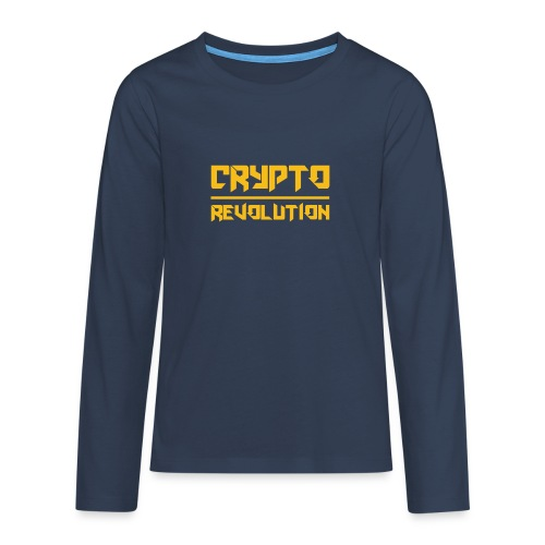 Crypto Revolution III - Teenagers' Premium Longsleeve Shirt