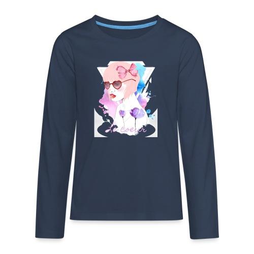 Le coeur - T-shirt manches longues Premium Ado