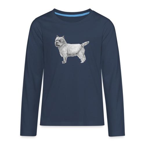cairn terrier - Teenager premium T-shirt med lange ærmer