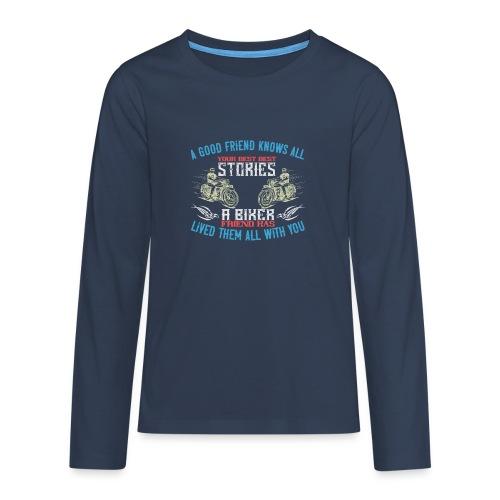 Biker stories. - Teenagers' Premium Longsleeve Shirt