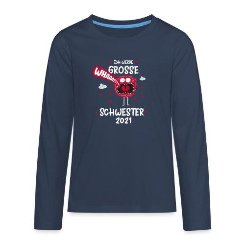 Großer Bruder 2021 lustiges Monster - Teenager Premium Langarmshirt