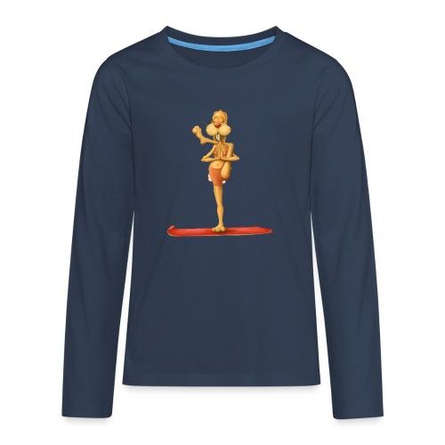 Yoga - Rabbit - Teenager Premium Langarmshirt