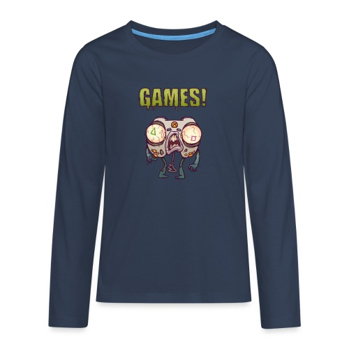 ZOMBIE CONTROLLER - Koszulka Premium z długim rękawem dla nastolatków