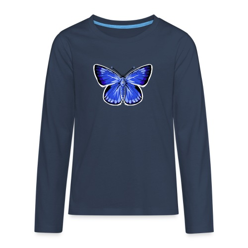 vlinder2_d - Teenager Premium shirt met lange mouwen