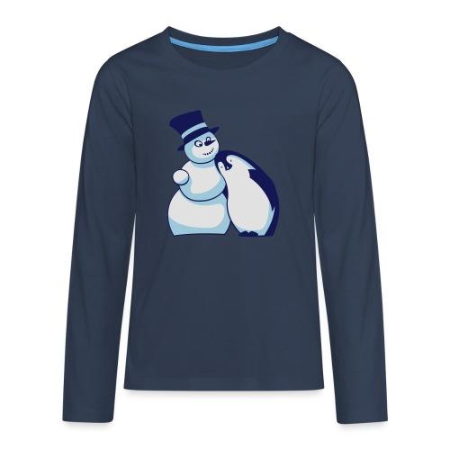 Schneemann und Pinguin - Teenager Premium Langarmshirt