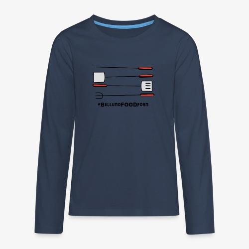 BBQ Belluno - Maglietta Premium a manica lunga per teenager