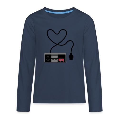 NES Controller Heart - Teenagers' Premium Longsleeve Shirt