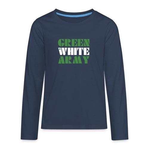 GREEN & WHITE ARMY - Teenagers' Premium Longsleeve Shirt