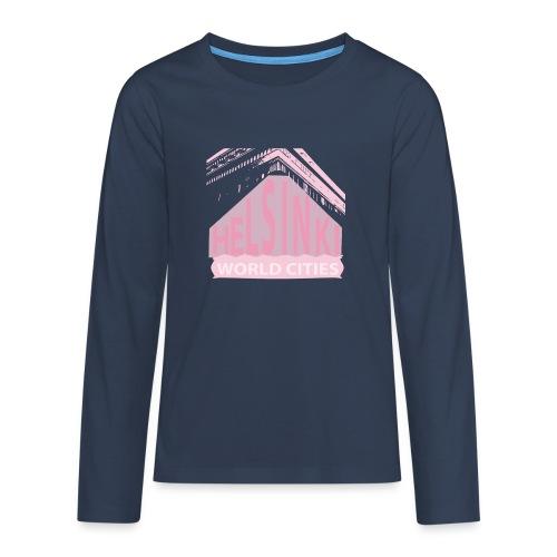 Helsinki light pink - Teenagers' Premium Longsleeve Shirt