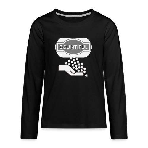 Bontiul gray white - Teenagers' Premium Longsleeve Shirt
