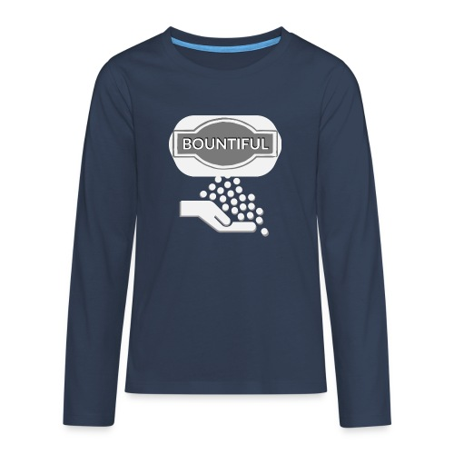 Bontiul gray white - Teenagers' Premium Longsleeve Shirt