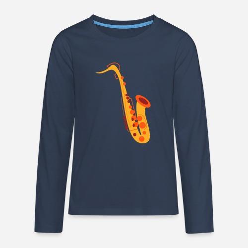 Goldenes Saxophon - Teenager Premium Langarmshirt