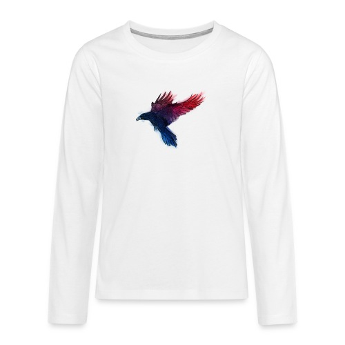 Watercolor Raven - Teenager Premium Langarmshirt