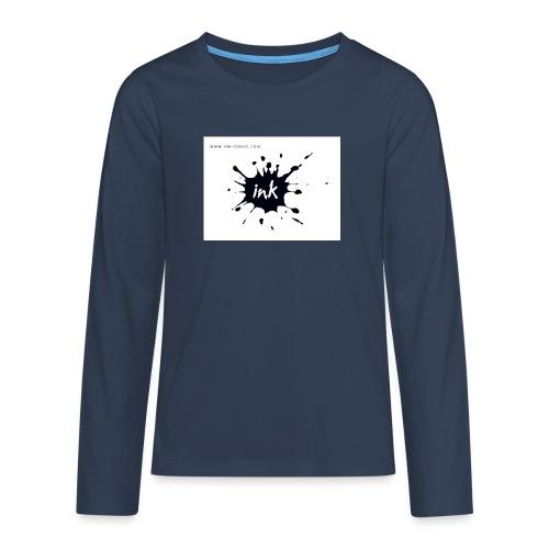 Ink Logo and website - Teenagers' Premium Longsleeve Shirt