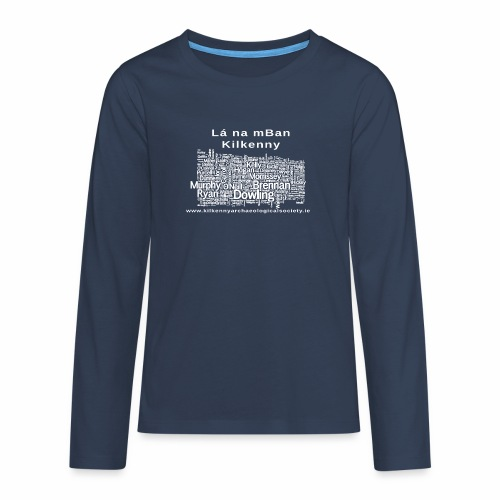 Lá na mban Kilkenny white - Teenagers' Premium Longsleeve Shirt