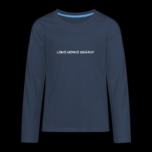 4 - Teinien premium pitkähihainen t-paita