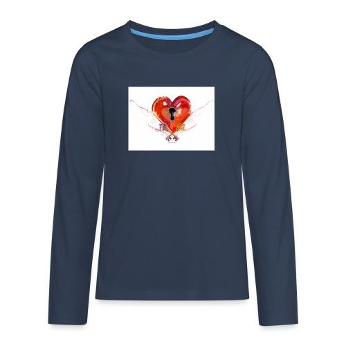 stvalentinmotif2 - T-shirt manches longues Premium Ado